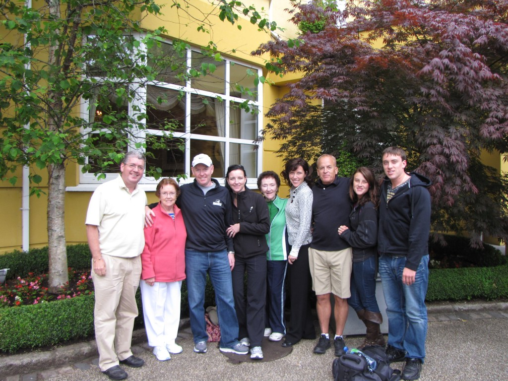 Bill Creamer and family golf Ireland