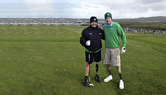 Wounded US Veterans visit SWING Courses
