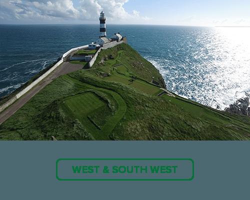 Irish Golf Regions