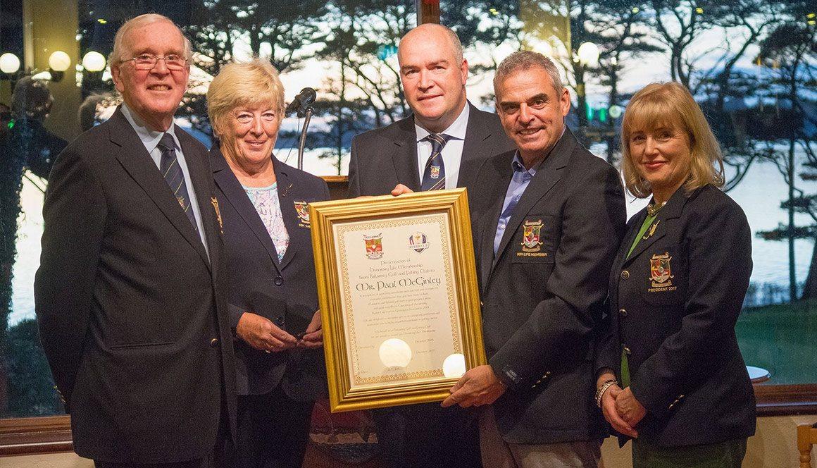 McGinley Awarded Life Membership In Killarney